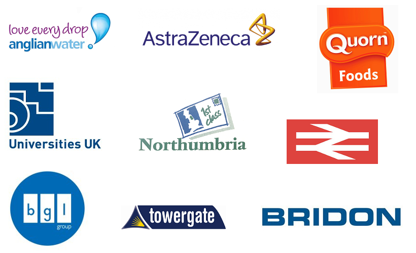 Logos of organisations Jude has worked with